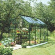 Halls Supreme 86 Aluminium Greenhouse Green Toughened Glass 6' 3
