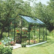 Halls Supreme 86 Aluminium Greenhouse Green Toughened Glass 1930 x x