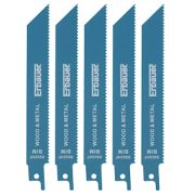 Erbauer S922HF Demolition Reciprocating Saw Blade 150mm 10tpi Pack of 5