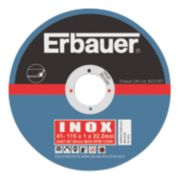 Erbauer Cutting Discs 115 x 1 x 22.23mm Pack of 5