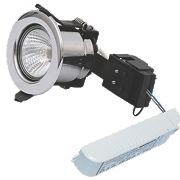 Sylvania Fixed Round LV Fire Rated Downlight Contractor Pack Pol. Chr 12V