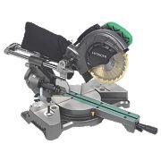 Hitachi C8FSE/JR 216mm Single Bevel Compound Sliding Mitre Saw 240V