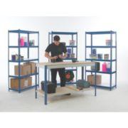 Workshop Workbench & Shelving Starter Kit Blue & White x x mm