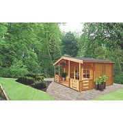 Shire Lydford 3 Log Cabin Assembly Included 4.1 x 5m
