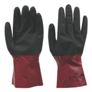 Ansell Alphatec 58-530 Nitrile Gauntlets Red / Black Large