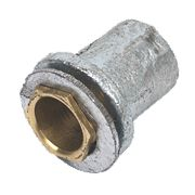 Flanged Coupler & Zinc Washer with Brass Bush Pack of 2