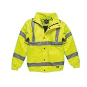 "Dickies Hi-Vis Bomber Jacket Saturn Yellow XXX Large 58"" Chest"
