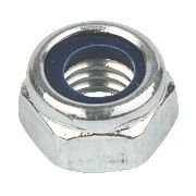Nylon Lock Nuts BZP Steel M5 Pack of 100
