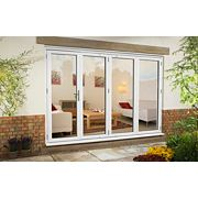 uPVC Fold & Slide Double-Glazed Patio Door RH White 2990 x 2090mm