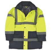 "Hi-Vis 2-Tone Padded Coat Yellow/Black XX Large 61"" Chest"