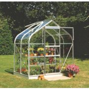 Halls Supreme 46 Aluminium Greenhouse Toughened Glass 6' 3 x 4' 3