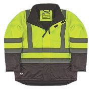 "Helly Hansen Insulated Hi-Vis Jacket Yellow/Charcoal Extra Large 45½"" Chest"