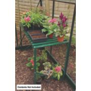 Halls Greenhouse 1-Tier Staging Green Aluminium Green 19 x 42 x 28