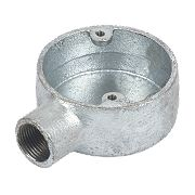 20mm 1 Way Galvanised Conduit Box