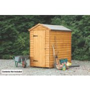 Forest Larchlap Overlap Apex Security Shed 4 x 6 x 7' (Nominal)