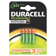 Duracell 75050950 AAA Batteries Pack of 4