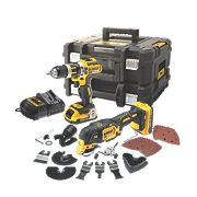 DeWalt DCK257D2T-GB 18V 2.0Ah Li-Ion Combi Drill & Multi-Tool XR Brushless