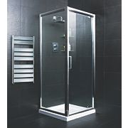Moretti Pivot Door Shower Enclosure Silver 800mm