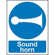 """Sound Horn"" Sign 400 x 300mm"