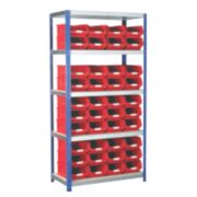 Barton Ecorax Shelving Red 900 x 450 x 1800mm
