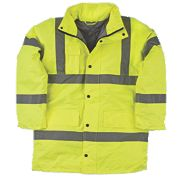 "Hi-Vis Padded Jacket Yellow Medium 39"" Chest"