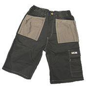 "JCB Keele Shorts Black 38"" W"