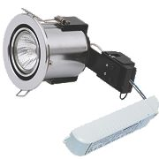 Sylvania Adjustable Round Fire Rated Downlight Contractor Pack Brsh Chr 12V