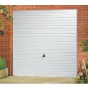 Horizon 8' x 7' Frameless Steel Garage Door White