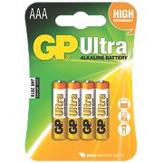 GP Batteries Ultra Alkaline Batteries AAA Pack of 4