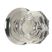 Carlisle Brass Glass Mortice Knob Pair Polished Chrome 60mm