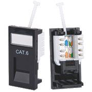 Philex Cat 6 RJ45 Outlet Module Black