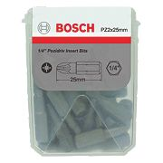 Bosch Extra Hard Pozi #2 Tic Tac Box Screwdriver Bits 25mm Pack of 25