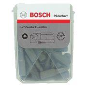 Bosch Extra Hard Pozi #2 Tic Tac Box Screwdriver Bits 25mm Pack of 25