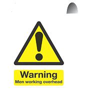 """Warning Men Working Overhead"" Sign 500 x 300mm"