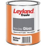 Leyland Trade Trade Non-Drip Gloss Paint White 750ml