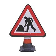 JSP Portacone Roadworks Cone Sign 900mm