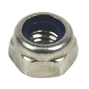 A4 Stainless Steel Nylon Lock Nuts M5 Pack of 100