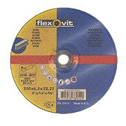Flexovit Metal Grinding Discs 230 x 6 x 22.23mm Bore Pack of 5