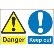"""Danger Keep Out"" Sign 300 x 450mm"