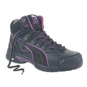 Puma Ladies Mid Stepper Safety Boots Black Size 4