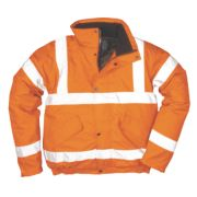 Hi-Vis Bomber Jacket Orange Medium 40-41