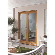 Jeld-Wen French Door Set Oak Veneer 1190 x 2090mm