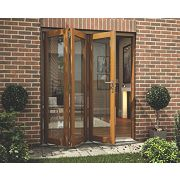 Jeld-Wen Slide & Fold Patio Door Set Oak Veneer 1794 x 2094mm