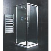 Moretti Square Pivot Door Shower Enclosure Silver 900mm