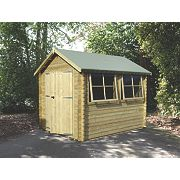 Solway 2 Log Cabin Assembly Included 2.9 x 2.9 x 2.5m