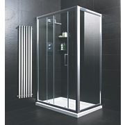 Moretti Sliding Door Shower Enclosure Silver 1200mm