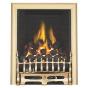 Focal Point Blenheim Brass Rotary Control Gas Inset Full Depth Fire