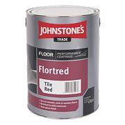 Johnstones Semi-Gloss Floor Paint Tile Red 5Ltr