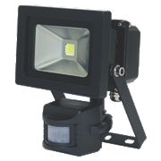 XQ Lite LED PIR Floodlight Black 10W