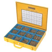 TurboGold Woodscrews Expert Trade Case Double Self-Countersunk Pack of 2800